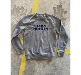 Sweatshirt - lysegrå meleret (voksen)